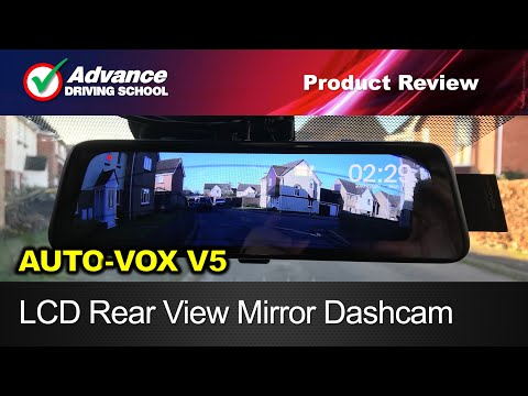 LCD Rear View Mirror Dash-Cam  |  Auto-Vox V5 Product Review