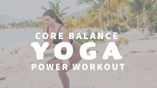YOGA CLASS ☀️ Power Yoga for Standing Balance and Core Strength | Vieques Puerto Rico