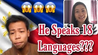 FILIPINO BOY WHO SPEAKS 18 LANGUAGES | REACTION VIDEO