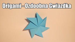 Origami - Ozdobna Gwiazdka