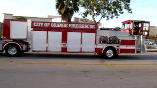 Orange (California) City Fire Dept. Squad 6 Tillered Rescue Trailer