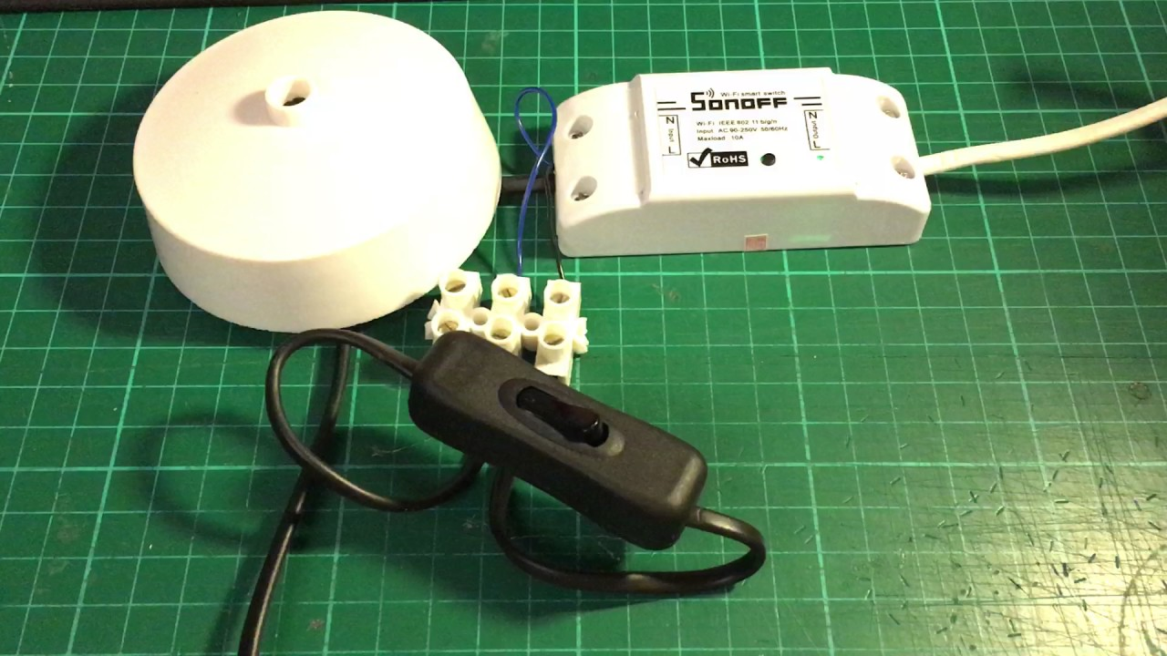 Sonoff Basic Switch With Physical Light Switch Youtube