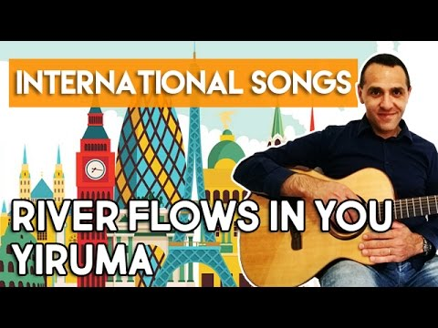 RIVER FLOWS IN YOU - YIRUMA - How To Play - Guitar Tutorial