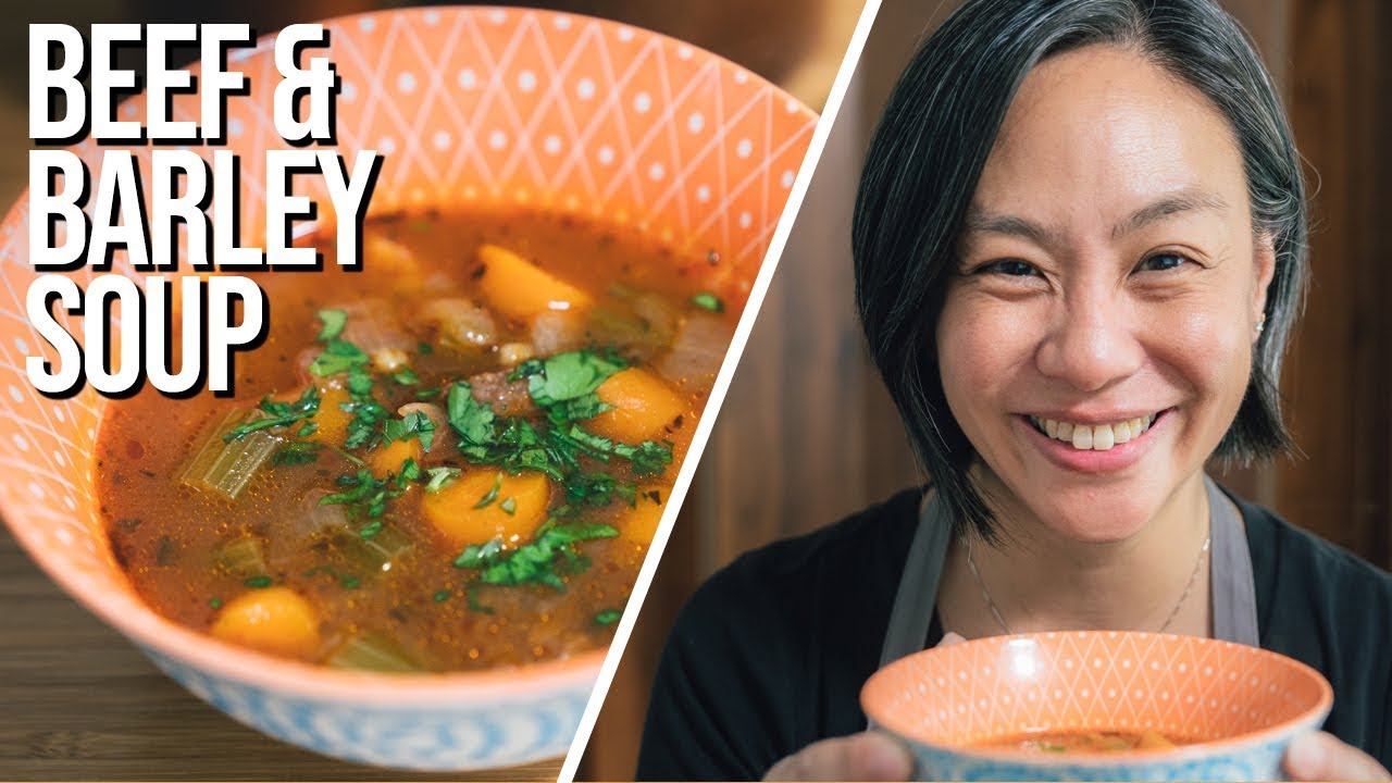 Chicken barley soup instant pot