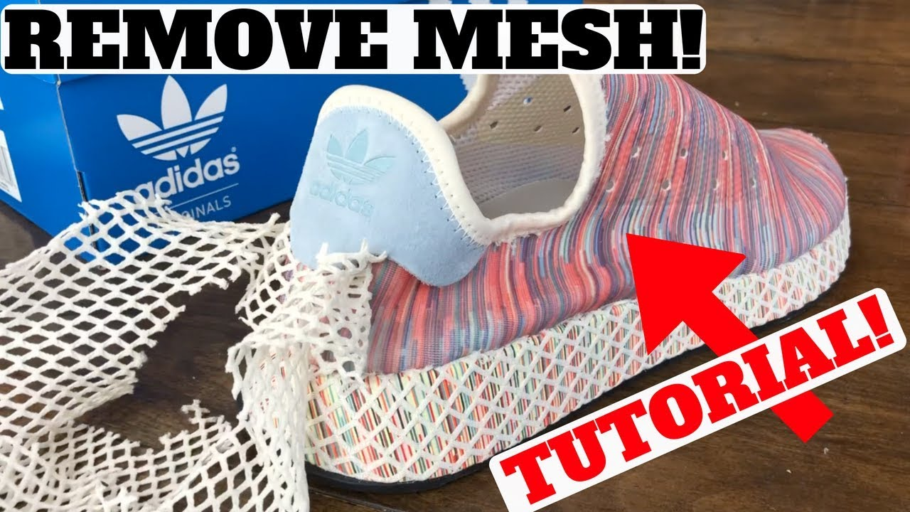 d0c035266a1b3 Adidas DEERUPT  PRIDE  How to REMOVE The Mesh! - YouTube