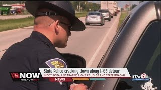 watch rtv6 rides along with isp trooper on i 65 detour patrol