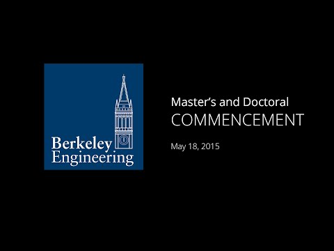 Graduate Commencement 2015, Berkeley Engineering