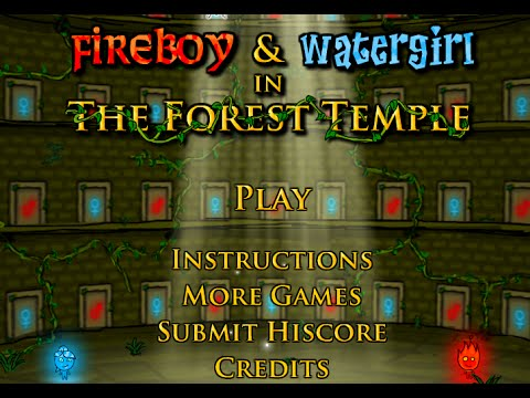 Fireboy and Watergirl in The Forest Temple Full Walkthrough