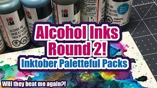 Alcohol Inks Round 2 | Inktober Paletteful Packs | Mystery Art Supplies