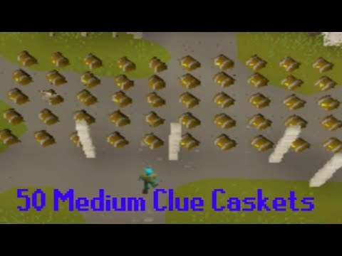 OPENING 50 MEDIUM CLUE CASKETS AT ONCE!!