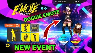 DOGGIE EMOTE PARTY EVENT FREE FIRE ✔️ PRG GAMERS