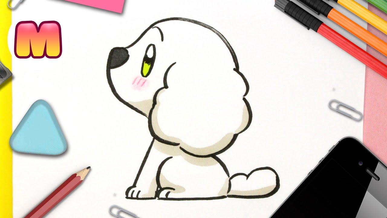 COMO DIBUJAR UN PERRO KAWAII - Dibujos faciles kawaii - Aprende a dibujar animales con Jape