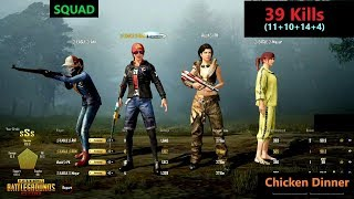 "[Hindi] PUBG Mobile | ""39 Kills"" In Squad Chicken Dinner With AWM No Scope Kill"