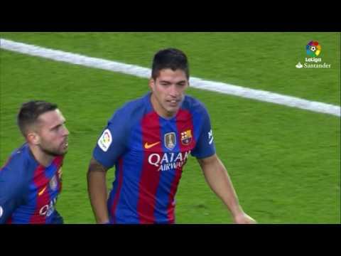 Gol de Luis Suárez (1-0) FC Barcelona vs Real Madrid