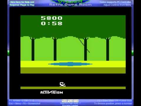 Atari 2600 Gameplay - Pitfall!