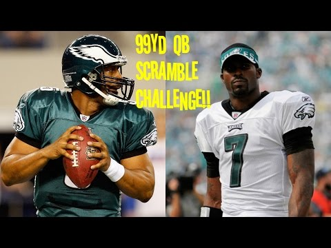 WHO CAN GET A 99YD QB SCRAMBLE FIRST?!? DONOVAN MCNABB VS MIKE VICK!! EAGLES G.O.A.T.