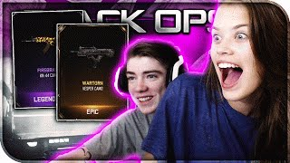 "GIRLFRIEND OPENS SUPPLY DROPS! ""LEGENDARY CAMO"" SUPPLY DROP HUNT (BO3 Black Market)"