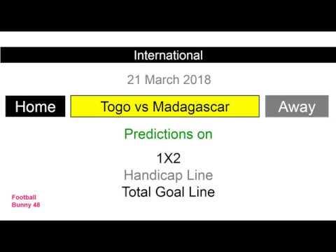Togo vs Madagascar : Football Predictions : International Friendly : 21 March 2018