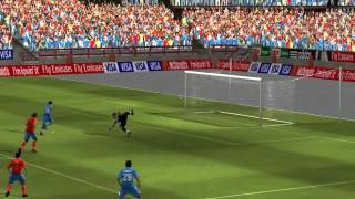 2010 FIFA World Cup South Africa   Spain vs Italy   PC Gameplay HD