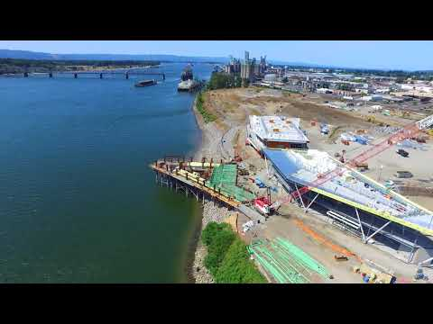 Waterfront Vancouver USA Drone Video 8-19-17