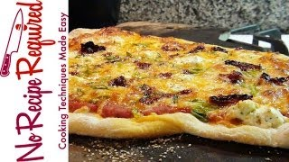 Sun-dried Tomato Goat Cheese Pizza - Noreciperequired.com