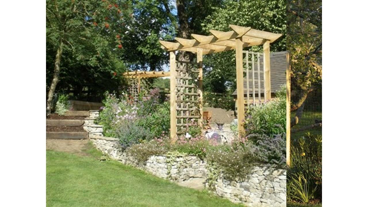 Hermoso peque o jard n arcos para casa youtube for Arcos para jardin