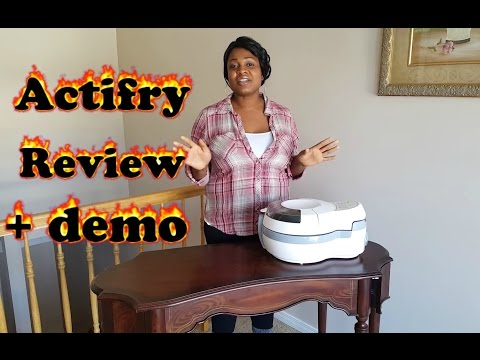 T-FAL ACTIFRY REVIEW AND DEMO!