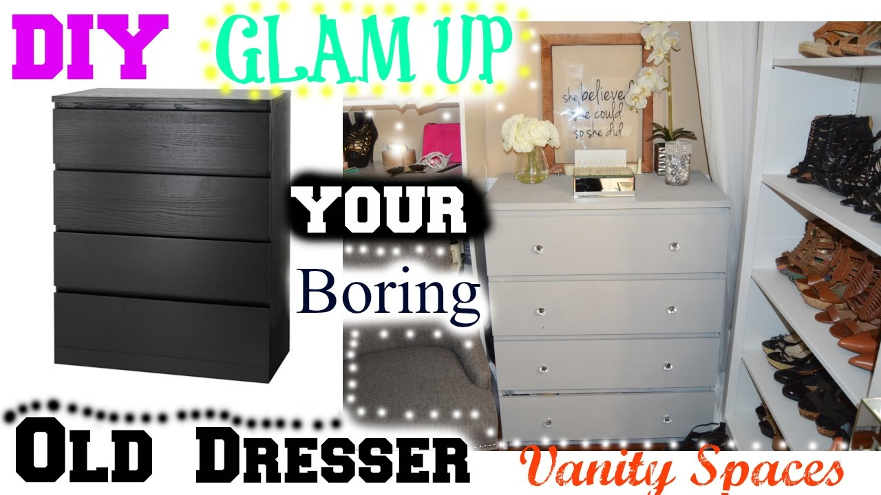 Old Ikea Nightstands DIY Glam Up Your Boring Old Dresser - Ikea Hacks