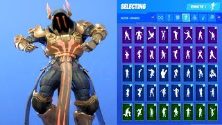 THE ICE KING LEGENDARY SKIN SHOWCASE WITH ALL FORTNITE DANCES & EMOTES