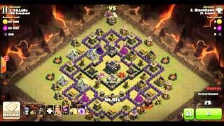 Clash of Clans TH9 vs TH9 Quatro LavaLoon 3stars