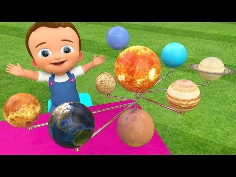 Little Baby Learning Planets Names Wooden Planets Toy Set 3D for Children Kids Toddler Educational