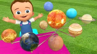 Learning Planets Names Wooden Planets Toy Set 3D for Children Kids Toddler Baby Educational