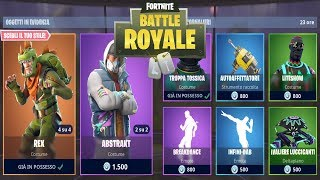 FORTNITE *SHOP* 23/08 | SKIN T-REX - ABSTRAKT - BREAKDANCE - TRUPPA TOSSICA