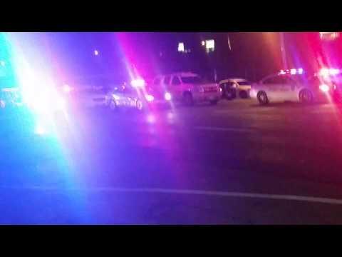 Ferguson. Police presence.