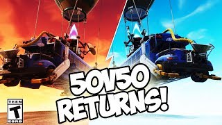 'NOUVEAU' 50V50V2 RETURNS, DOUBLE XP, NEW LIGHT MACHINE GUN! PATCH NOTES V3.5.2 (Fortnite Battle Royale)