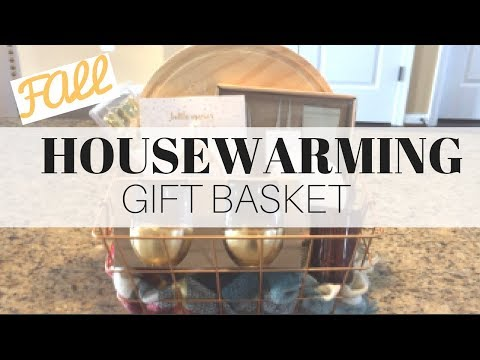FALL HOUSEWARMING GIFT BASKET ON A BUDGET // TARGET DOLLAR SPOT // 2017
