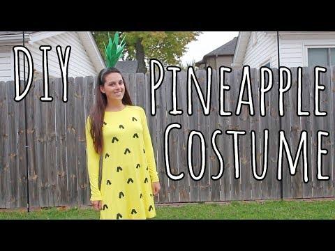 DIY   Easy Last-Minute Pineapple Halloween Costume