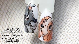 Мультяшки!!! Рисуем Собачку!!! Дизайн Ногтей!!! Nails Design!!!