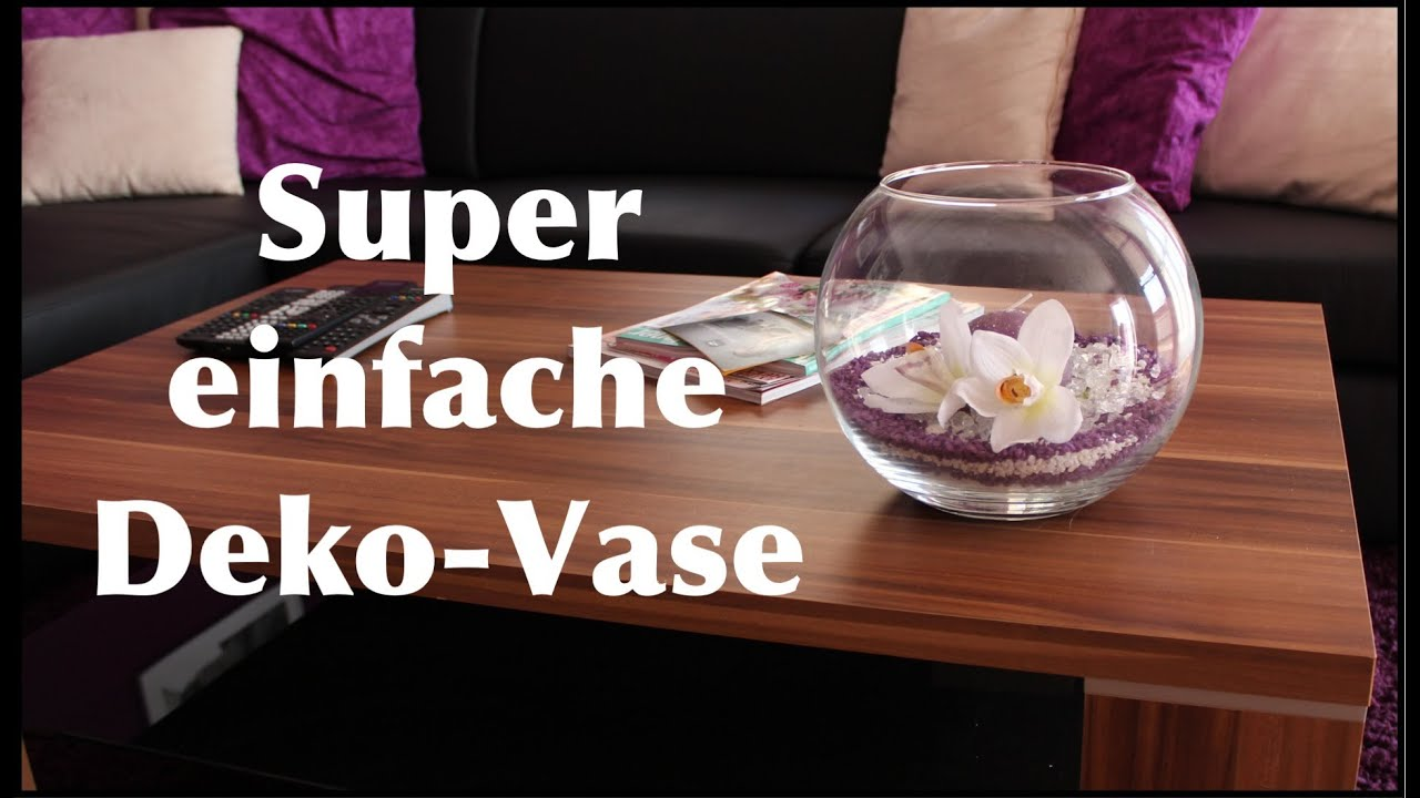 super einfache deko vase youtube. Black Bedroom Furniture Sets. Home Design Ideas