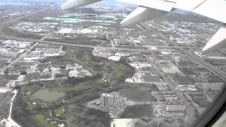 Airplane take off from Toronto Pearson International Airport in the east direction.