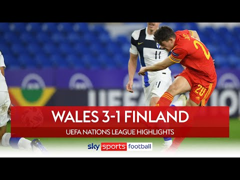 James scores stunner to seal Wales' promotion!   Wales 3-1 Finland   UEFA Nations League Highlights