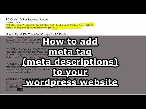how to write meta description for website