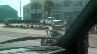 Galveston-Capt.Krackers Harley on Galveston Seawall-TheZuell.avi