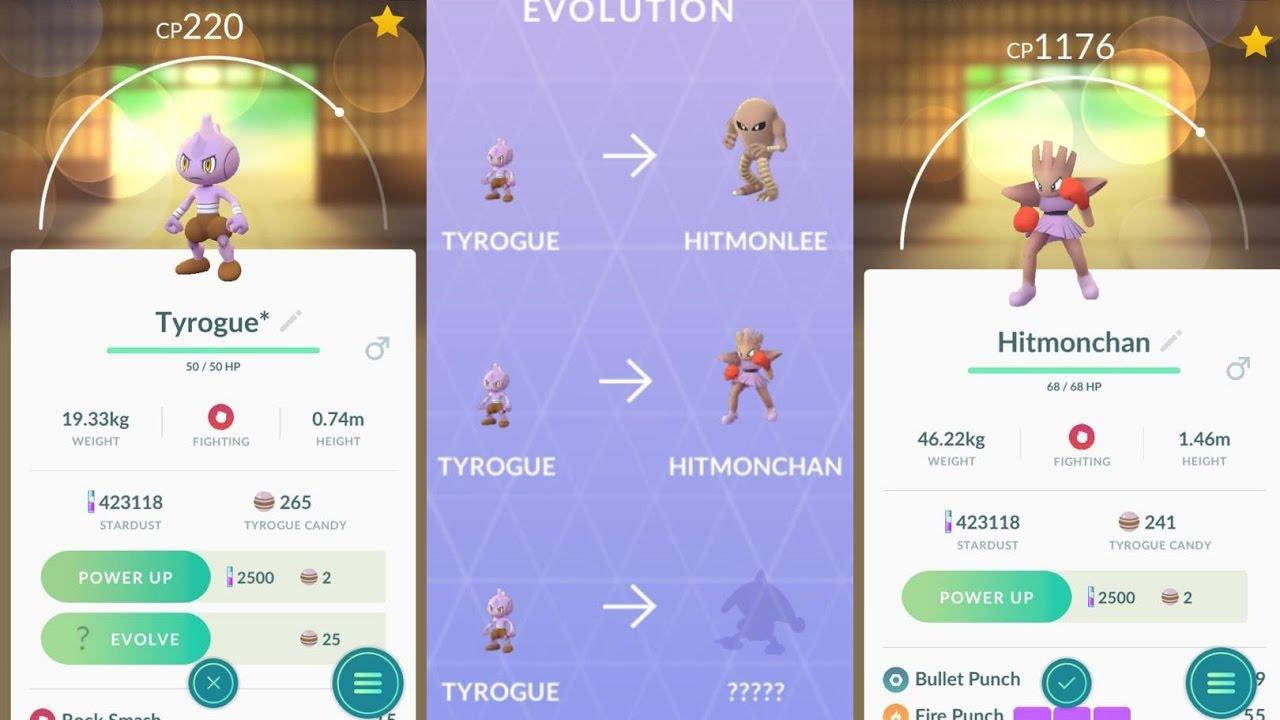 ewolucja tyroguea w trik potwierdzony pokemon go