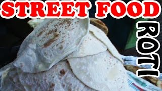Indian Street Food - Fresh Boiled Flour Roti - Amazing Food Fresh Roti Frying on the Street Video
