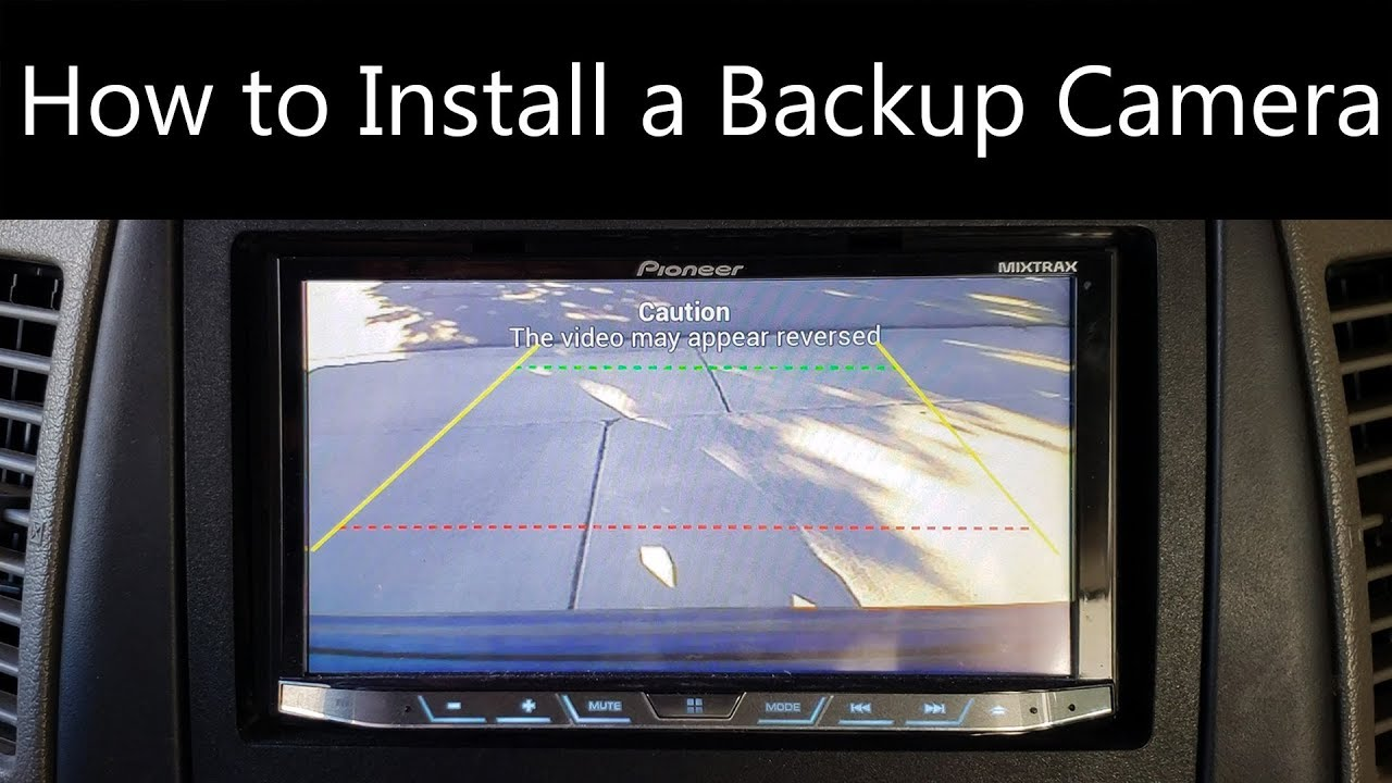 2007 jeep grand cherokee backup camera wiring diagram how to install a backup camera youtube  how to install a backup camera youtube