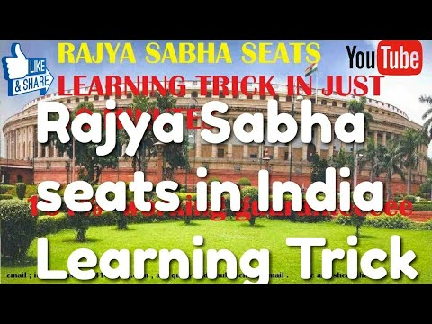 Trick to remember rajya sabha seats of india in हिन्दी in  STATE-WISE IN  most easy and simple way
