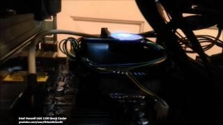 intel haswell lga 1150 socket h3 stock cooler noise test