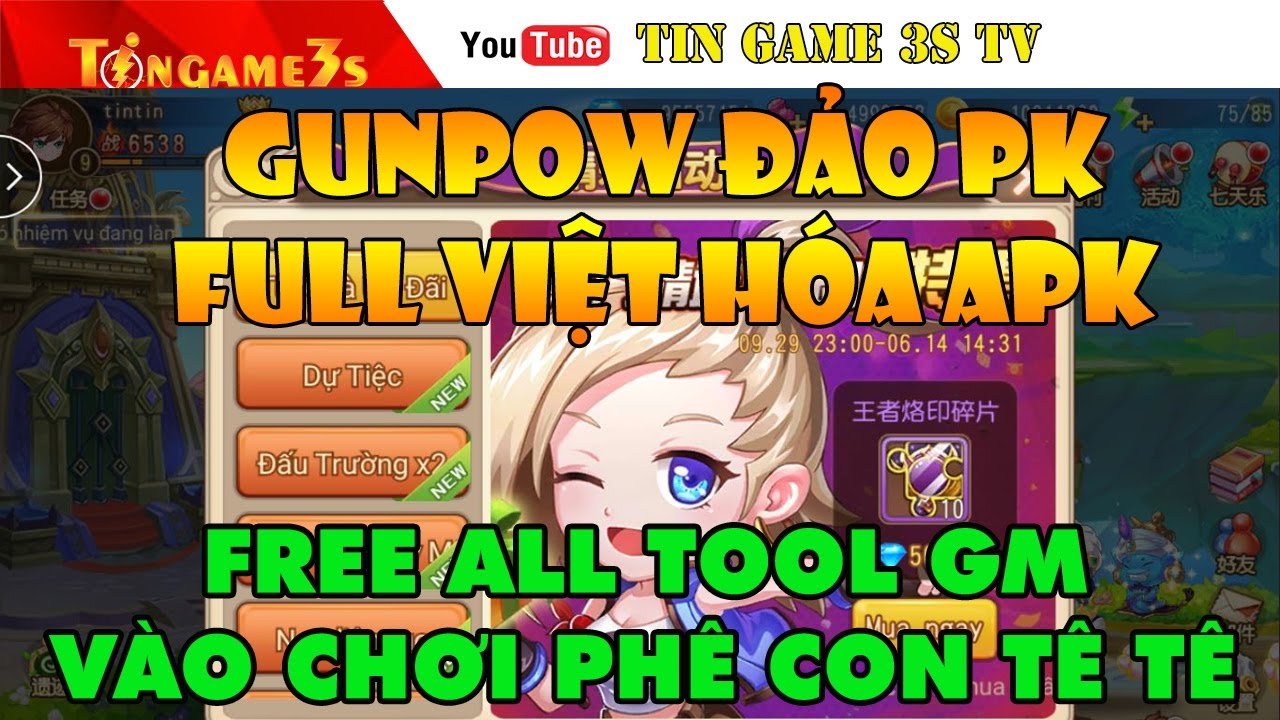 Game Mobile Private|GunPow Mobile Đảo PK Free Full Tool GM Việt Hóa APK Free VIP Kim Cương|Tingame3s