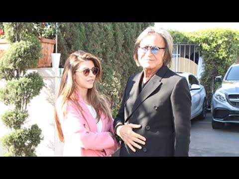 Mohamed Hadid And Shiva Safai Enjoying A Lovely Afternoon